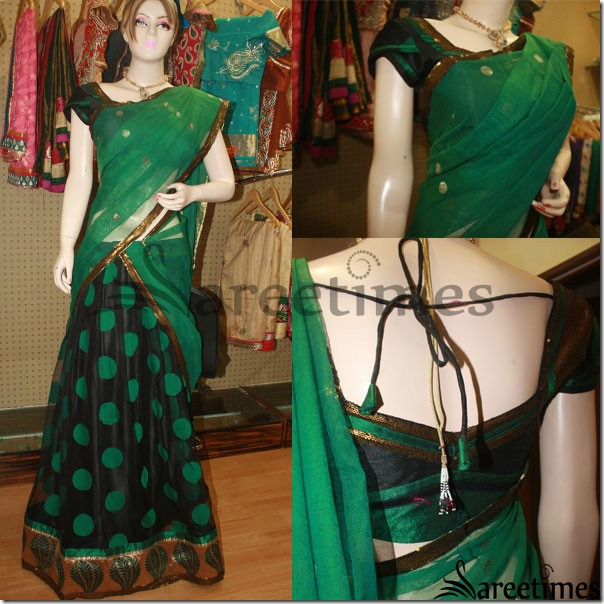 Black_Green_Half_Saree