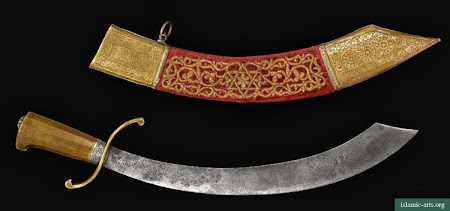 A RARE MARITIME CUTLASS AND SCABBARD, MOROCCO,
