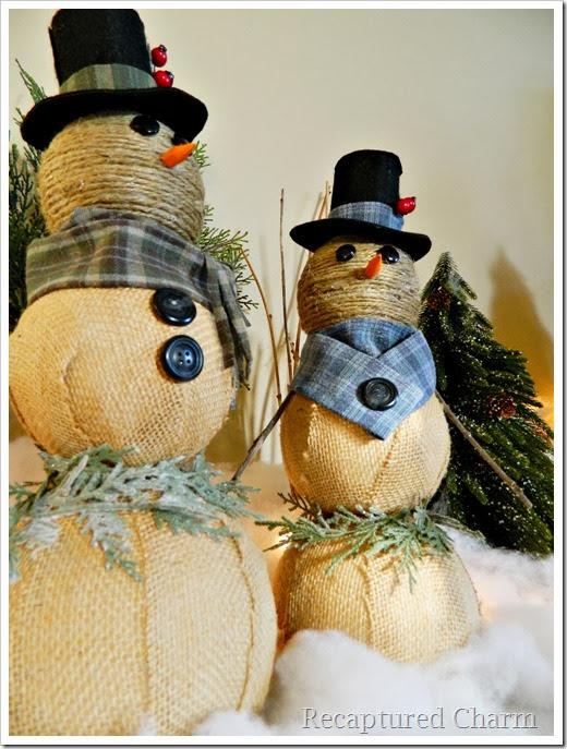 burlap & twine snowmen49