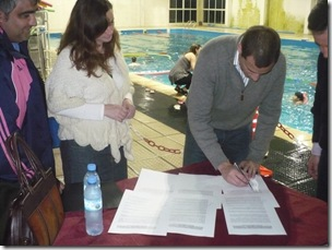La Costa firmó convenio con el CEF Nº 116 de General Lavalle para el uso del natatorio municipal