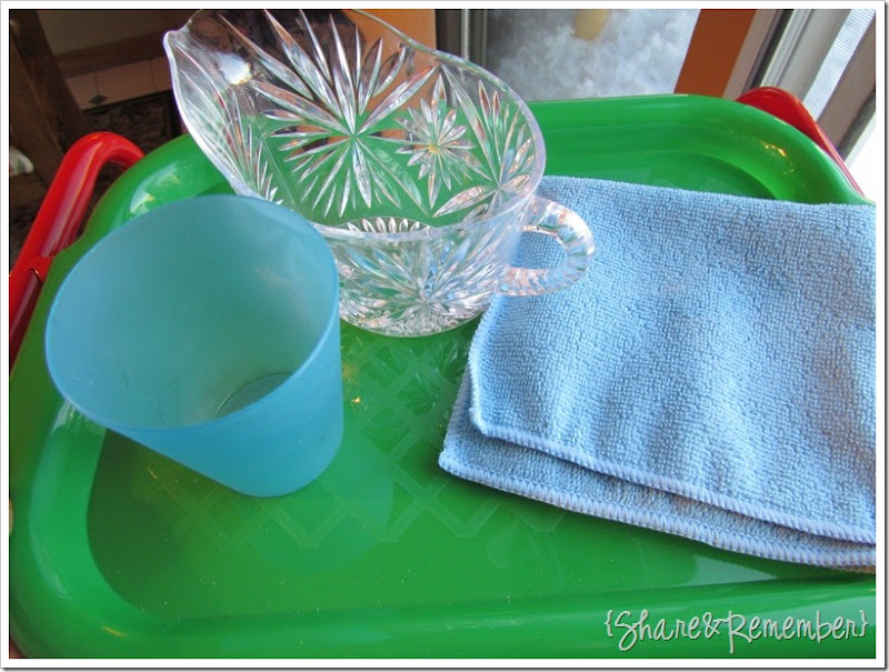 Preschool Activity Trays - Pouring Water