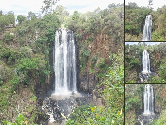 View April 2013, Thomson's Falls in Nyahururu Kenya pours 243 ft from Aberdare Mountain Range