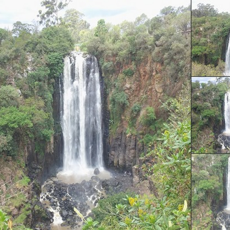 Thomson's Falls in Nyahururu, Kenya pours 243 ft from Aberdare Mountain Range