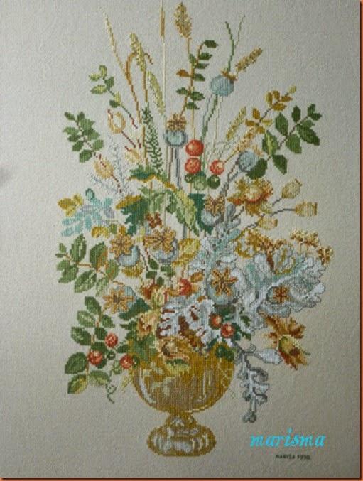 cuadro con flores otoñales,detalle copia
