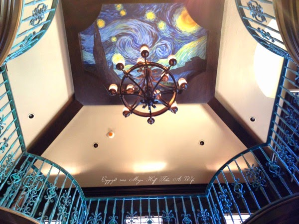 Starry Sky ceiling in 2 story library