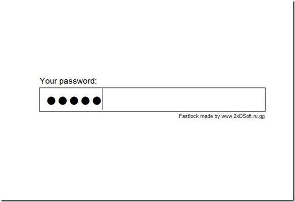 Fastlock schermo bloccato con password