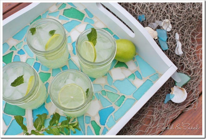 Sea Glass Serving Tray