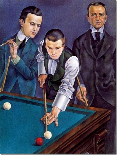 Josep de Togores i Llach -Los jugadores de billar -1920