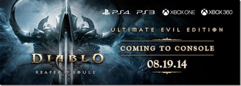 Diablo 3: Reaper of Souls chega para os consoles em Agosto de 2014