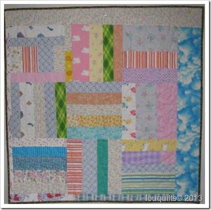 scrappy 9-patch pieced back