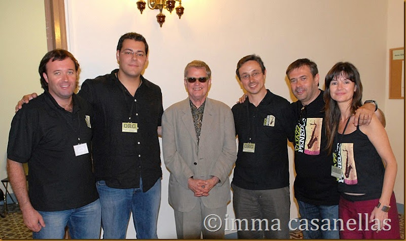 Amb Charlie Haden al centre, David Boada, Dani Margalef, Carles Ocaña, Miquel Bricullé i Imma Casanellas, Vilafranca del Penedès, 30-6-2007