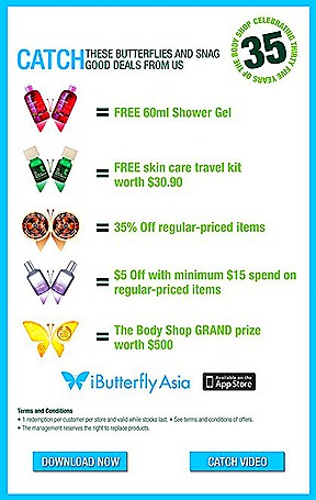 The Body Shop Singapore iButterfly Asia iPhone