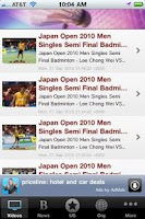 Screenshot of Badminton News