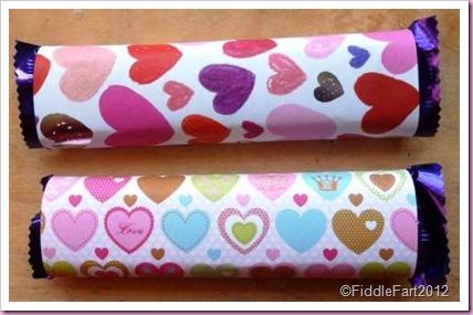 Valentine chocolate favors