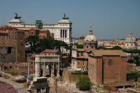 The Roman forum, looking towards parliament
