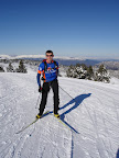 Winter: XC skiing at the Plateau de Beille