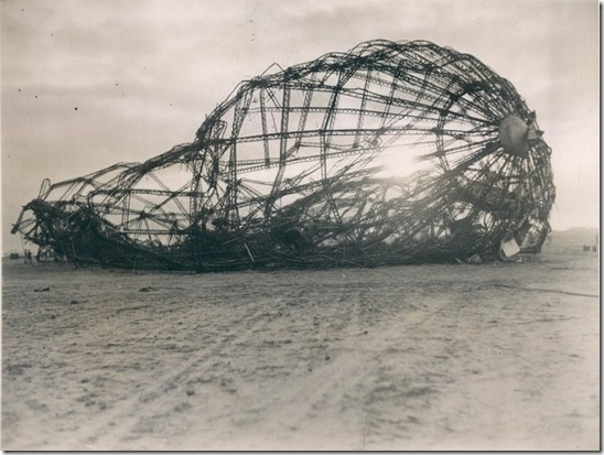wreckage at sunrise - May 7 1937