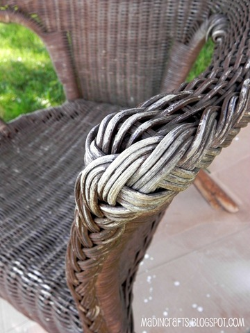 wicker chair damage