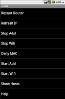 Screenshot of Router Remote