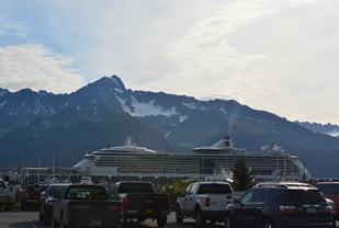 Radiance of the Seas lands at Seward