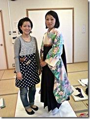 袴の他装着付け練習 (9)
