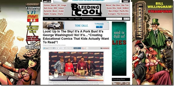 "Look  Up In The Sky  It s A Pork Bun  It s George Washington  No  It s...""Creating Educational Comics That Kids Actually Want To Read""    Bleeding Cool Comic Book  Movies and TV News and Rumors"