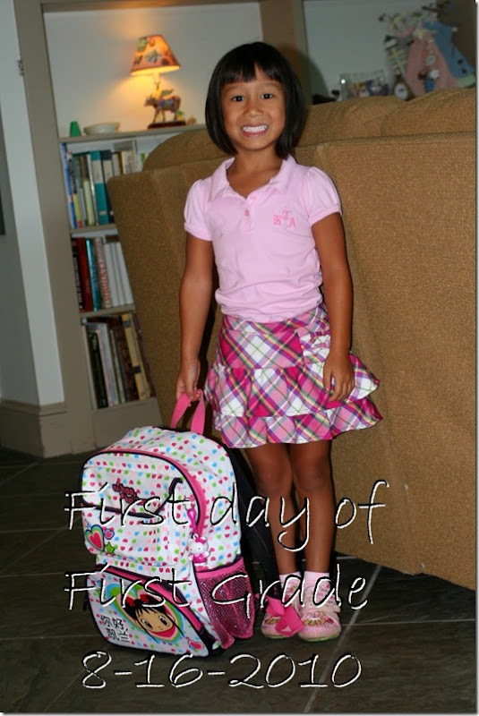 first day 1st grade