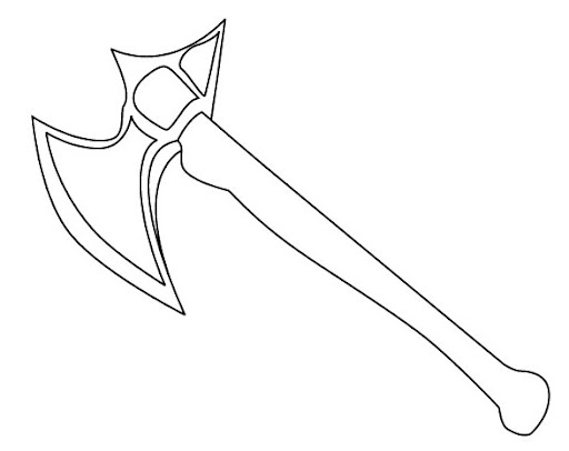 axe coloring pages to print - photo#8
