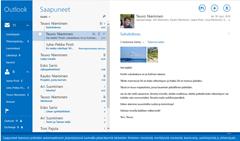 Sähköpostisovellus Windows kasissa