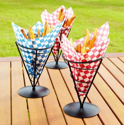 These cones are perfect for fries or other side dishes. (surlatable.com)