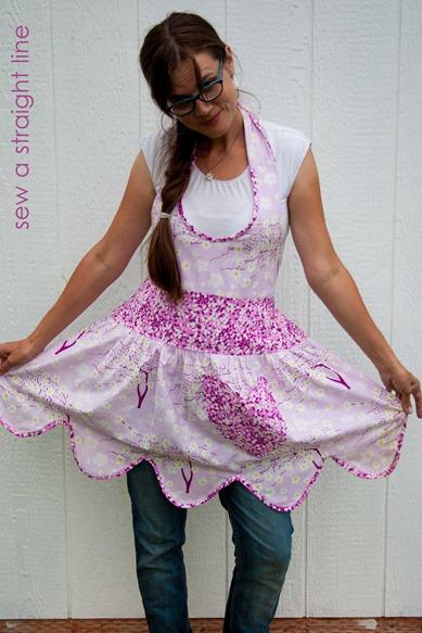 ruffled apron sew a straight line-14