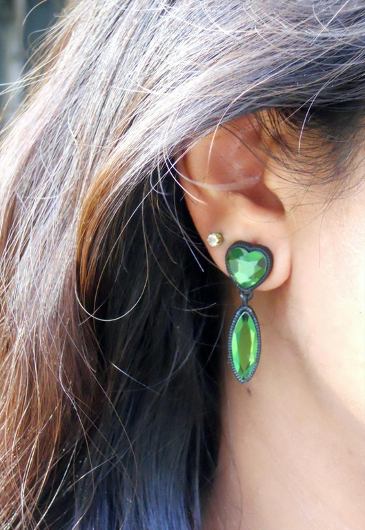 Green Drop Earrings, £10, Born In The Wrong Era