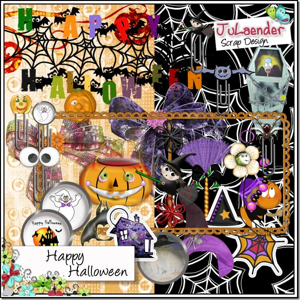 Free Halloween kit from Scrap Memorias