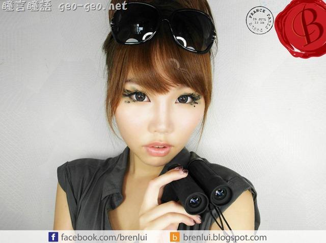 香港大佬B分享Ⅰ-隱形眼鏡之冒險少女迷彩妝及髮型分享***銀河灰吸睛大眼娃