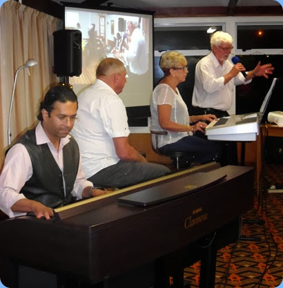 To round-off a terrific Christmas Club Night Special, Jan and Kevin Johnston got our feet tapping with a cameo performance by Ben Fernandezon on the Clavinova. The band was joined by Peter Wilton who comes from Wellsford and plays gigs with Jan and Kevin as their very able vocalist.