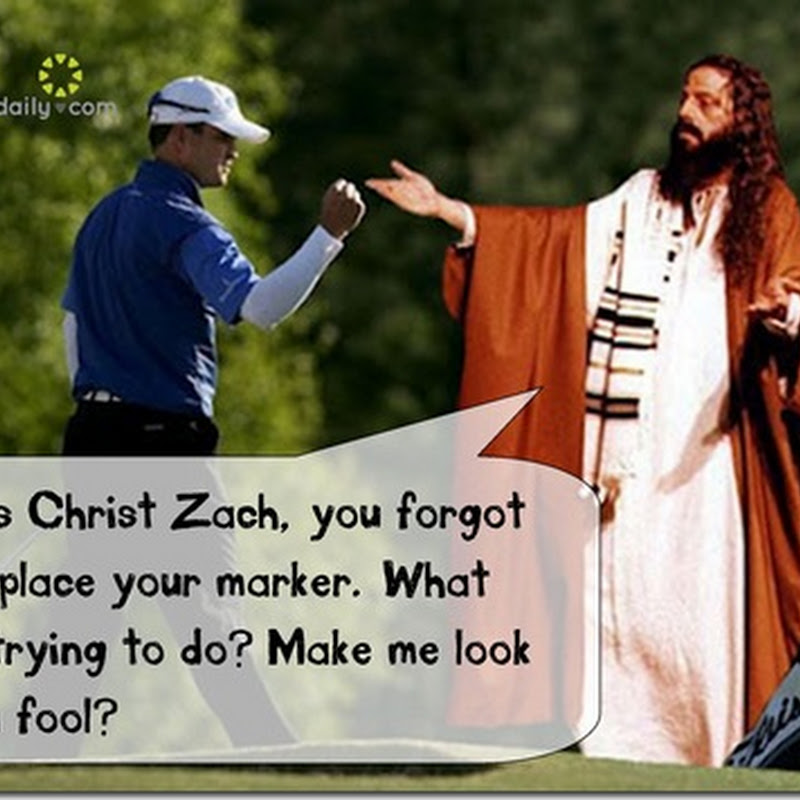 Jesus Christ Unhappy With Zach Johnson After Ball Marking Incident