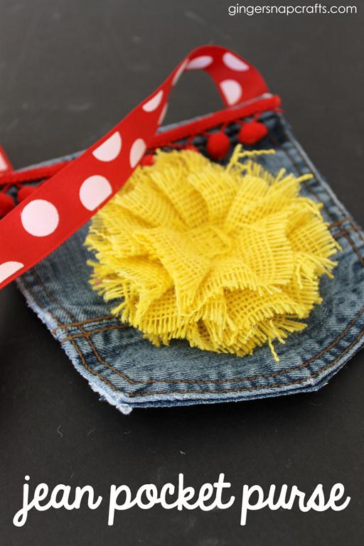 jean pocket purse at GingerSnapCrafts.com #upcycle #kidcraft