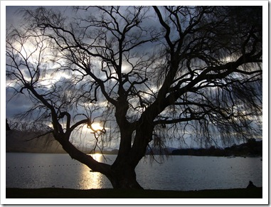 atardecer en el wanaka lake