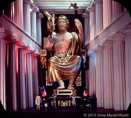 View-Master The Seven Wonders of the World (B901), Scene 7: Statue of Zeus at Olympia
