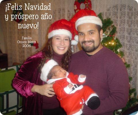 061224 Tarjeta Familia Orozco Meraz Navidad 2006