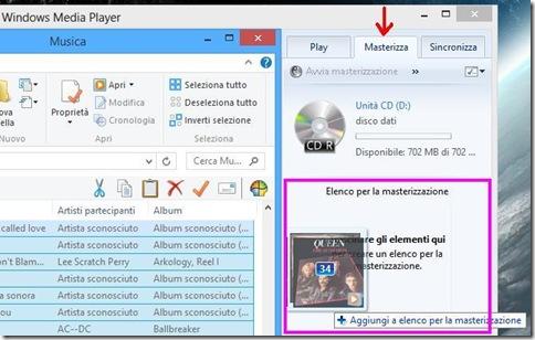 Windows Media Player Masterizza