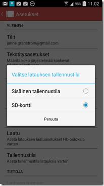 google play movies - Elokuvat voi siirtää SD-kortille offline katselua varten