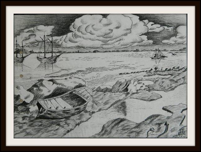 Pintura La Barca por Lucy Reyna Reynalandia Incomodanos oh Dios