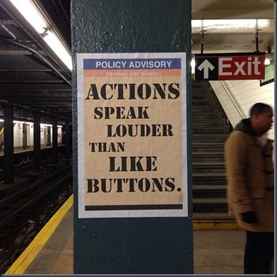 POLICY ADVISORY Actions speak louder than like buttons.