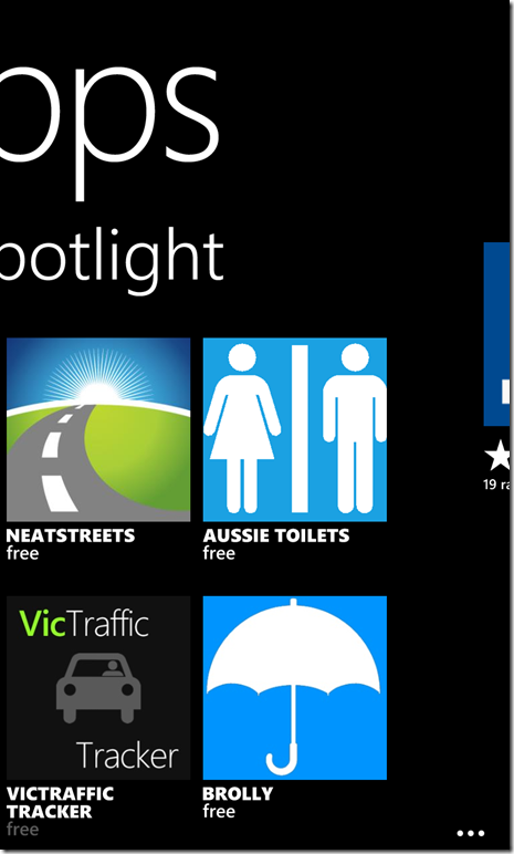 Screenshot of Windows Phone 8 Store