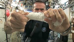 Face Cloth in Space