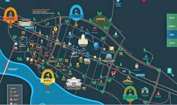 peta festival belia 2014 putrajaya