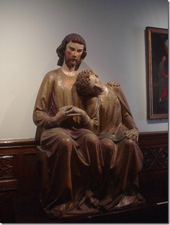 jesus and john carved sculpture antwerp belgium