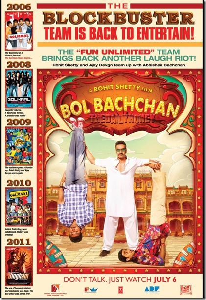 bol bachchan movie-Ajay Devgn-Abhishek Bachchan-Rohit Shetty-action-comedy-movie-2012
