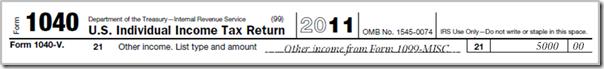 Taxes - 1040 1099-MISC